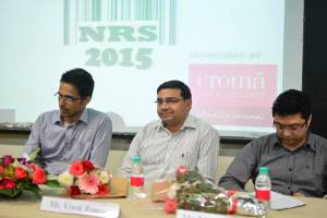 Francis Pereira, Vivek rastogi and Manish Pradhan (left to right) on 'Retail Branding and Private Labels'